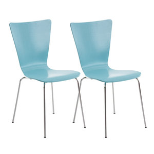 2x bezoekersstoelen Oaran Blauww