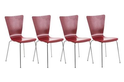 4x bezoekersstoel Oaran Rood