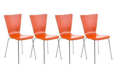 4x bezoekersstoel Oaran Oranje