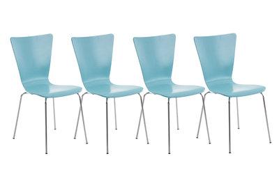 4x bezoekersstoel Oaran Blauww