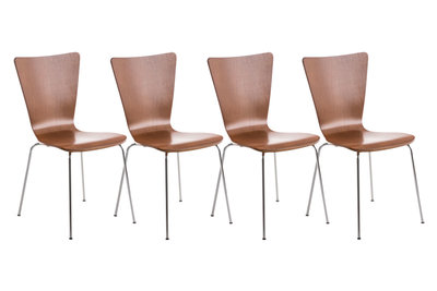 4x bezoekersstoel Oaran Bruin