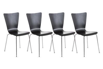 4x bezoekersstoel Oaran Zwart