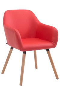 Bezoekersstoel Ichit V2 Kunstleer Rood,natura