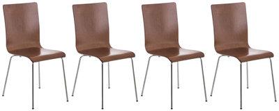 Set van 4 Pipi bezoekersstoelen Bruin