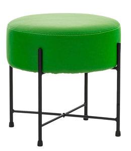 Hocker Mersiella Kunstleer Groen