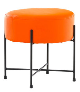 Hocker Mersiella Kunstleer Oranje