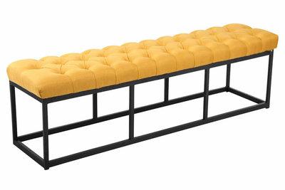 Bank Uman B stof Geel,150 cm