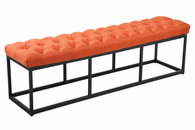 Bank Uman B stof Oranje,150 cm