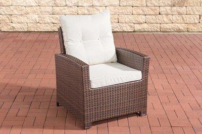 PolyRoodan fauteuil Fosoli Bruin-meliert,CremeWit