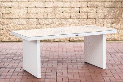 Poly Roodan tafel Ovignan Wit,180 cm