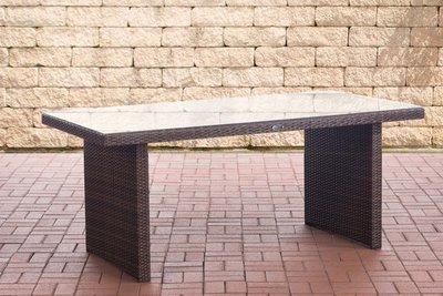 Poly Roodan tafel Ovignan Bruin-meliert,180 cm