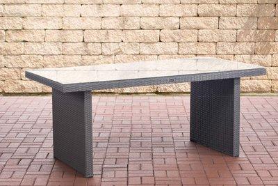 Poly Roodan tafel Ovignan Grijs,180 cm