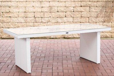 Poly Roodan tafel Avignon Wit,200 cm