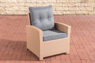 PolyRoodan fauteuil Fosoli sand,eisenGrijs