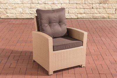 PolyRoodan fauteuil Fosoli sand,terraBruin