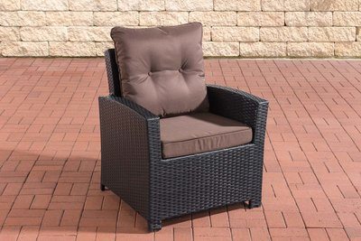 PolyRoodan fauteuil Fosoli Zwart,terraBruin