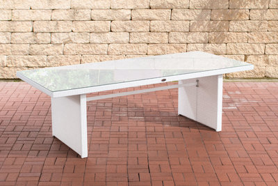 Poly Roodan tafel Ovignan Wit,220 cm