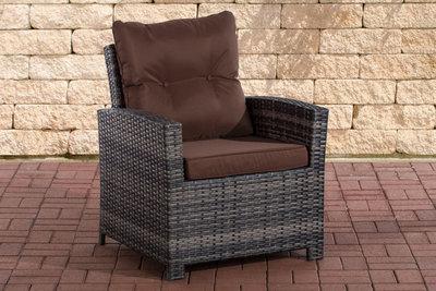 PolyRoodan fauteuil Fosoli Grijs-meliert,terraBruin