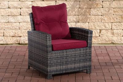 PolyRoodan fauteuil Fosoli Grijs-meliert,rubinRood