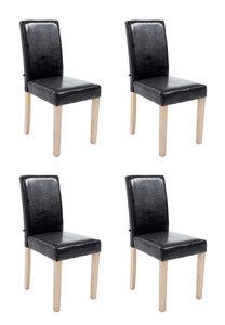 Set van 4 eetkamerstoelen Ani  Kunstleer Zwart