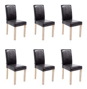 Set van 6 eetkamerstoelen Ani Kunstleer Bruin