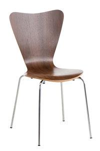 Bezoekersstoel Colista walnuss,
