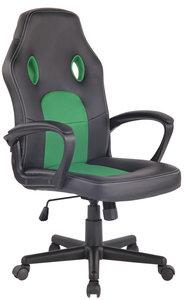 Bureaustoel Ilbeng Kunstleer Zwart/Groen