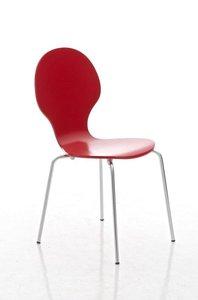 Bezoekersstoel Doegi Rood
