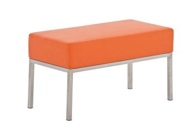 Tweezitsbank Limigi 80x40 Kunstleer Oranje