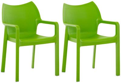 2er SET stapelstoel Davi Groen
