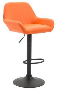 Barkruk Brigi Kunstleer Oranje,Zwart