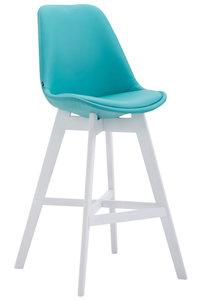 Barkruk Cennas Kunstleer Blauw,Wit
