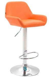 Barkruk Brigi Kunstleer Oranje,Chroom