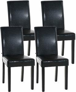 Set van 4 eetkamerstoelen Ani  Zwart Zwart