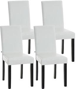 Set van 4 eetkamerstoelen Ani  Zwart Wit