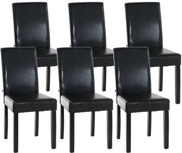 Set van 6 eetkamerstoelen Ani Zwart Bruin