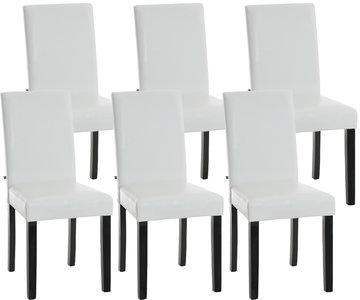 Set van 6 eetkamerstoelen Ani Zwart Wit