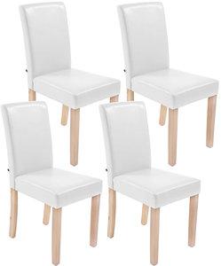 Set van 4 eetkamerstoelen Ani  Kunstleer Wit