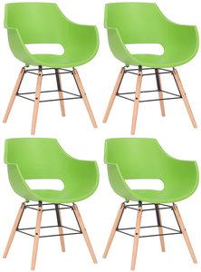 Set van 4 stoelen Skein Groen,natura