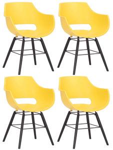 Set van 4 stoelen Skein Geel,Zwart