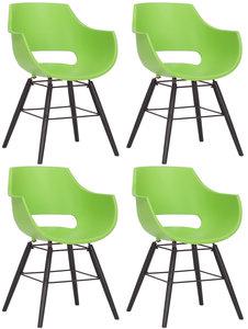 Set van 4 stoelen Skein Groen,Zwart