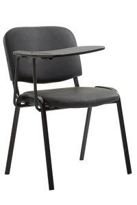 Bezoekersstoel Kin Kunstleer Zwart
