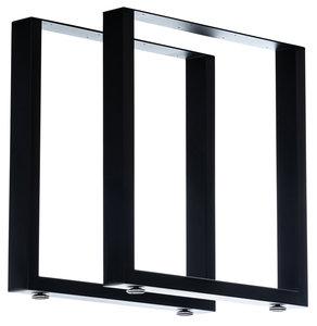 2x Tafelpoten Vildin Zwart,70 cm