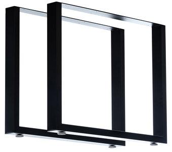 2x Tafelpoten Vildin Zwart,90 cm