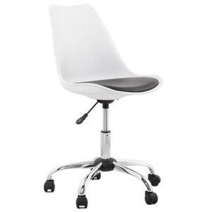 Bureaustoel Michigan Wit/Zwart (werkstoel)