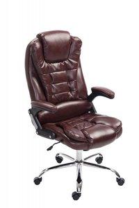 Bureaustoel Avery Bordeaux Rood-Leer-Comfortabel zitten