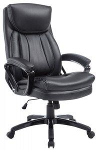 Bureaustoel Ela Zwart-Ideaal voor lange en zware personen