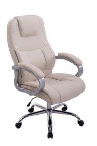 Bureaustoel Marrit Stof Creme (extra brede bureaustoel - brede zitting - zware belasting)