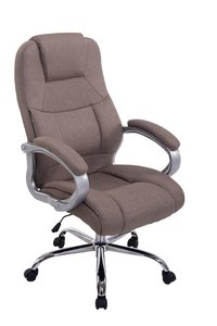 Bureaustoel Marrit Stof Taupe (extra brede bureaustoel - brede zitting - zware belasting)