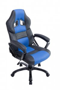 Sportieve Bureaustoel Dylinne Zwart/Blauw